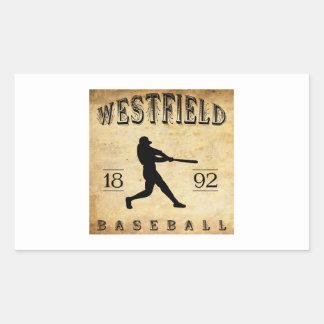 1892 Westfield New Jersey Baseball Rectangular Sticker