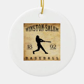 1892 Winston-Salem North Carolina Baseball Christmas Tree Ornaments