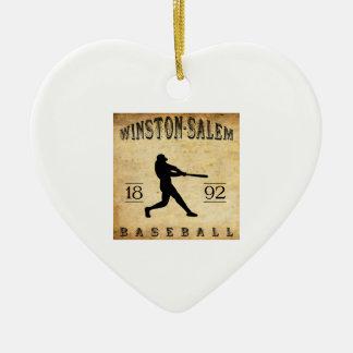 1892 Winston-Salem North Carolina Baseball Ornaments