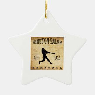 1892 Winston-Salem North Carolina Baseball Christmas Ornaments