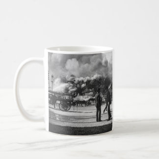 1892 WORLD COLUMBIAN EXPOSITION FIRE GLASS SLIDE COFFEE MUG