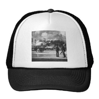 1892 WORLD COLUMBIAN EXPOSITION FIRE GLASS SLIDE TRUCKER HAT