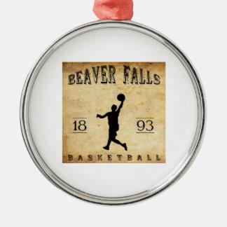 1893 Beaver Falls Pennsylvania Basketball Metal Ornament