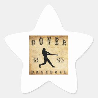1893 Dover New Hampshire Baseball Star Stickers
