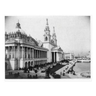 1893 exposición de Columbia, palacio de los artes Postales