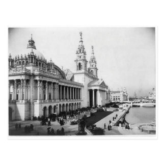 1893 exposición de Columbia, palacio de los artes  Tarjeta Postal