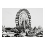 1893 FIRST FERRIS WHEEL - CHICAGO WORLDS FAIR POSTER