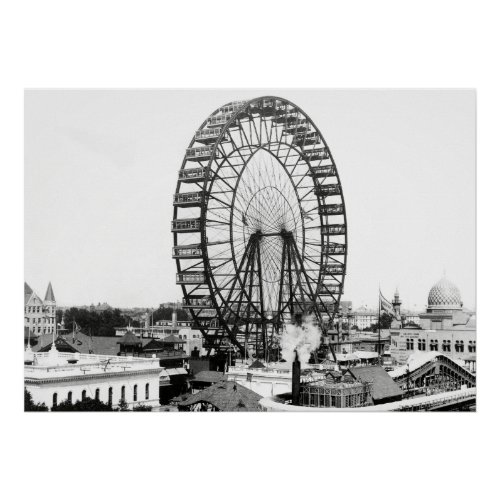1893 FIRST FERRIS WHEEL - CHICAGO WORLDS FAIR