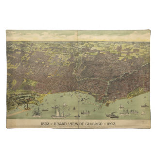 1893 Grand View of Chicago Illinois Cloth Placemat