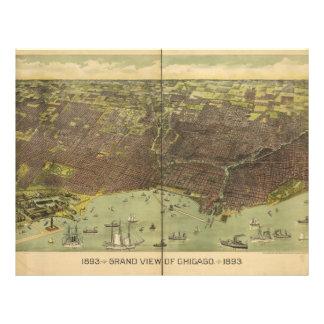 1893 Grand View of Chicago Illinois Letterhead