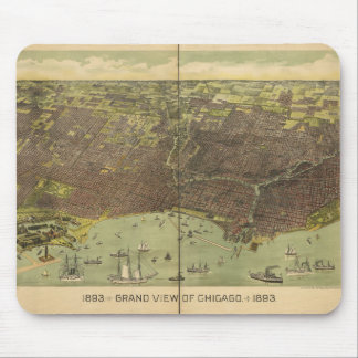 1893 Grand View of Chicago Illinois Mouse Pad