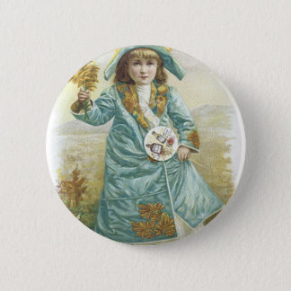 1893 Ladies Perfumed Calendar Hoyt & Co. German Co Pinback Button