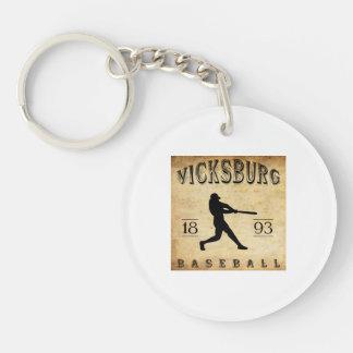 1893 Vicksburg Mississippi Baseball Keychain