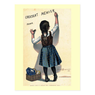 1893 Vintage French Chocolate Ad Poster Postcard