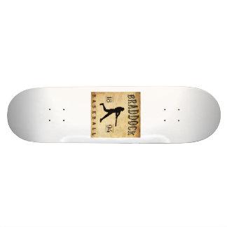 1894 Braddock Pennsylvania Baseball Skate Board