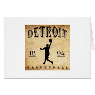 1894 Detroit Michigan Basketball Card