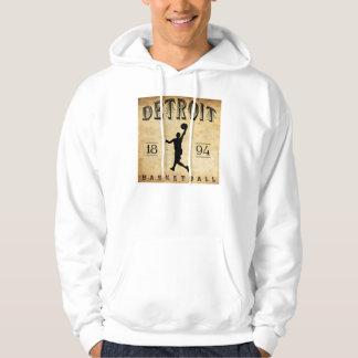 1894 Detroit Michigan Basketball Hoodie