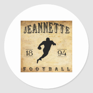 1894 Jeannette Pennsylvania Football Classic Round Sticker