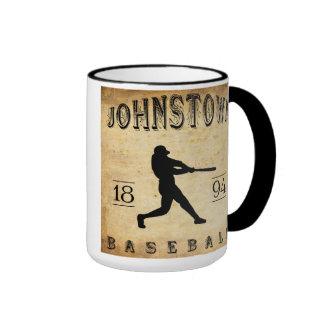 1894 Johnstown New York Baseball Ringer Coffee Mug