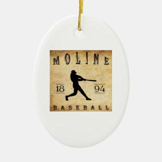 1894 Moline Illinois Baseball Ceramic Ornament