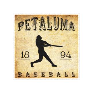 1894 Petaluma California Baseball Stretched Canvas Print