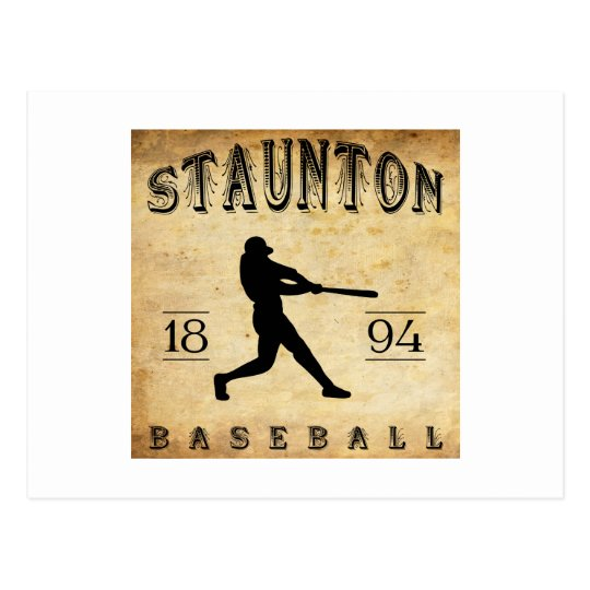 1894 Staunton Virginia Baseball Postcard