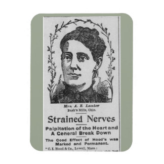 1894 Strained Nerves Advertisement Magnet
