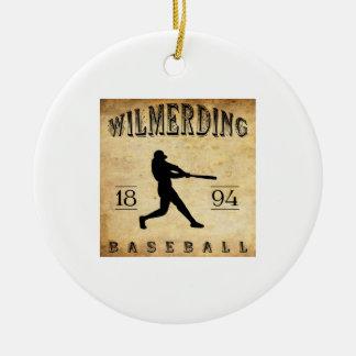 1894 Wilmerding Pennsylvania Baseball Ceramic Ornament