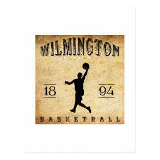 1894 Wilmington Delaware Basketball Postcard