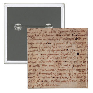 1895-9-15-503 W.34v Page of handwriting 2 Inch Square Button