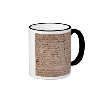 1895-9-15-503 W.34v Page of handwriting Ringer Coffee Mug