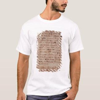 1895-9-15-503 W.34v Page of handwriting T-Shirt