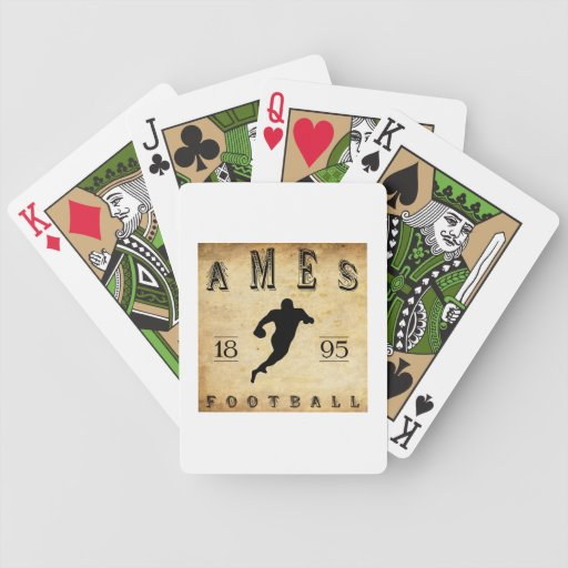 1895 Ames Iowa Football Bicycle Playing Cards