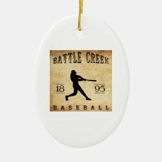 1895 Battle Creek Michigan Baseball Ceramic Ornament