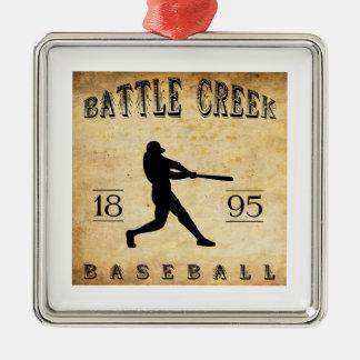 1895 Battle Creek Michigan Baseball Metal Ornament