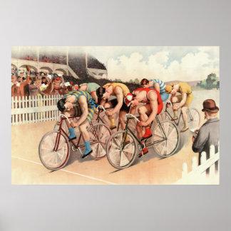 1895 Bicycle Race Reprint 36 x 24 Poster