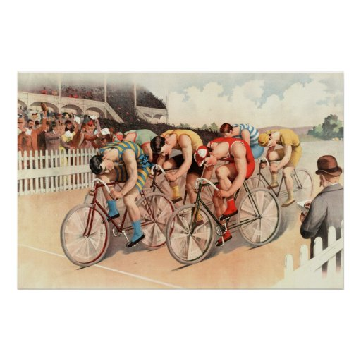 1895 bicycle race reprint 36 x 24 poster zazzle. Black Bedroom Furniture Sets. Home Design Ideas