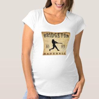 1895 Bridgeton New Jersey Baseball Maternity T-Shirt