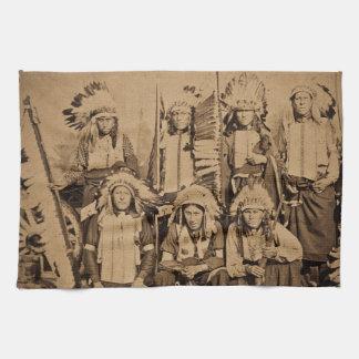 1895 Buffalo Bill Wild West Show Sioux Chiefs Hand Towel