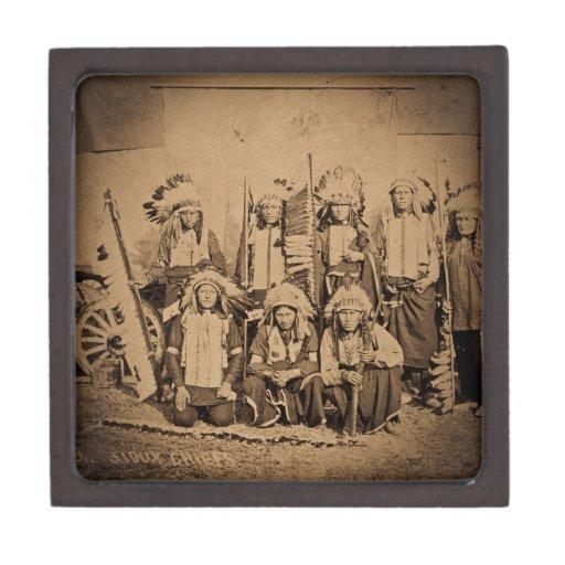 1895 Buffalo Bill Wild West Show Sioux Chiefs Premium Jewelry Box
