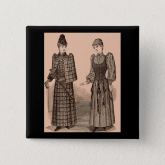 1895 Delineator print ladies coat and dress Button