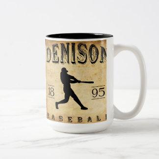 1895 Denison Ohio Baseball Two-Tone Coffee Mug