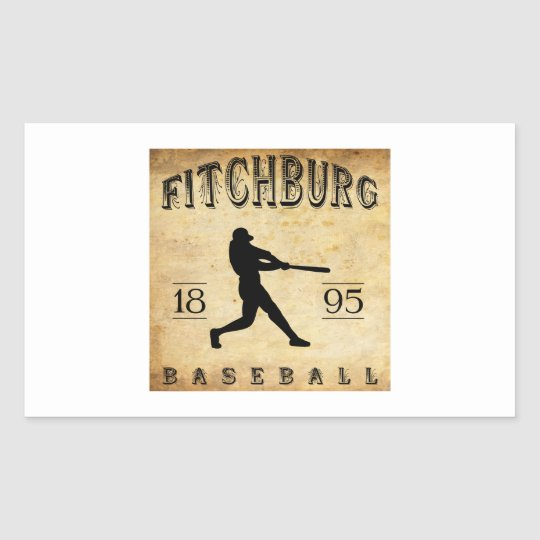 1895 Fitchburg Massachusetts Baseball Rectangular Sticker