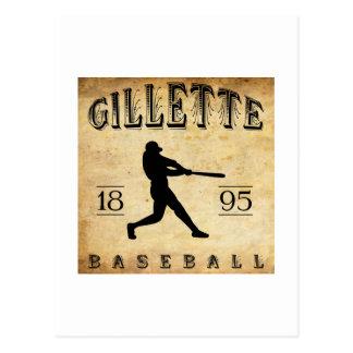 1895 Gillette Colorado Baseball Postcard