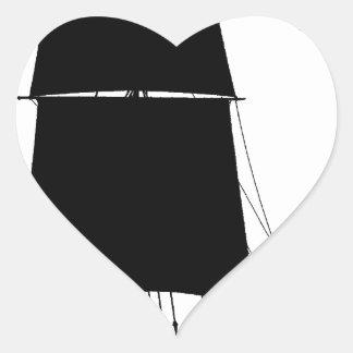 1895 Humber Keel - tony fernandes Heart Sticker