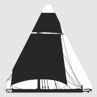 1895 Humber Keel - tony fernandes Triangle Sticker