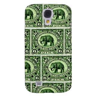 1895 Indian Princely States Elephant Samsung Galaxy S4 Covers