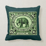 1895 Indian Princely States Elephant Throw Pillows