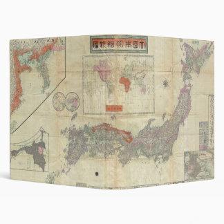 1895 Meiji 28 Japanese Map of Imperial Japan Binder