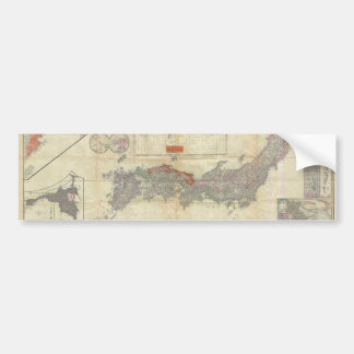 1895 Meiji 28 Japanese Map of Imperial Japan Car Bumper Sticker